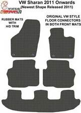 Vw Sharan 2011 Onwards Fully Tailored RUBBER Car Mats