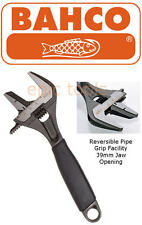 """BAHCO 9031P Adjustable 8""""/200mm REVERSIBLE PIPE Wrench Spanner Extra Wide 39mm"""