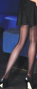 REDUCED Luxury Seamed Tights/Pantyhose with Jewel Seams