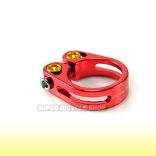 Lightweight Alloy Seat Clamp , 31.8mm , Red