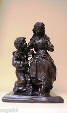Bronzo - Scultura bronzo - Donna con bambino