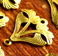 17.5mm Brass Stamping Filigree Wrap Connectors be20 (12pcs)