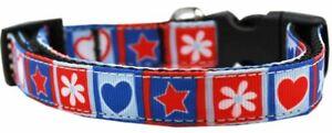 Stars and Hearts Nylon Dog Pet Puppy Collar