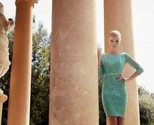 Carla Ruiz  Lace Turquoise Dress - Size 8 - Box62 20 H