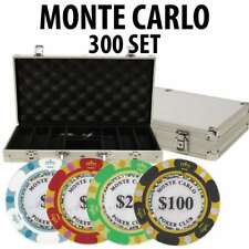 Monte Carlo 300 Poker Chip Set with Aluminum Case