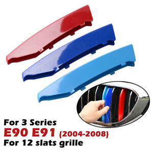 Front Grille Grill Cover Strips Clip Trim For BMW 3 Series E90 car Accessories A