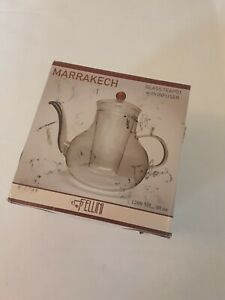 Fellini Marrakech Glass Teapot with Infuser   Red Colored   40 oz   1200ML [c]