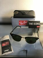 Ray-Ban Clubmaster Black Gold/Grey Sunglasses - RB3016