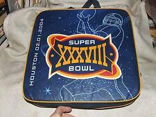 2004 SUPER BOWL XXXVIII 38 Houston TX SEAT CUSHION Patriots beat Panthers 32-29