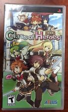 Class of Heroes (Sony PSP, 2009) NEW FACTORY SEALED