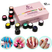 12Color 3D Nail Art Paint Draw Painting Acrylic Color UV Gel DIY Tip kits