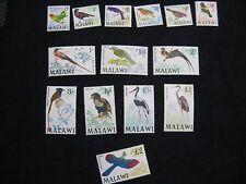 Malawi: 1968 Birds Set of 14 UMM