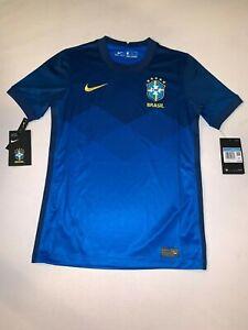 Nike Vapor Knit 2020-21 Brazil Away Soccer Jersey Blue BOYS (CD1023-427)