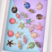 20Pcs Enamel Metal Mix Style Fruit Starfish Shell DIY Craft Jewelry Making G WG
