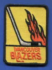 """Vancouver Blazers Wha 2 3/4"""" x 3 3/4"""" Embroidered Patch - 13160"""