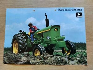 JOHN DEERE TRACTORS 2030 SERIES RARE COLOUR FARMING TRACTOR BROCHURE PRE USED GC