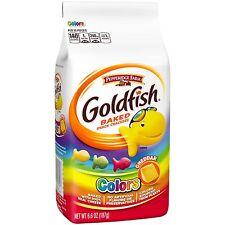 NEW SEALED GOLDFISH BAKED SNACK CRACKERS COLORS 6.6 OZ FREE WORLDWIDE SHIPPING