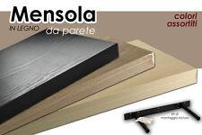 MENSOLA DA PARETE IN LEGNO CON KIT MONTAGGIO INCLUSO 80*25*3,8 CM DOU-553318