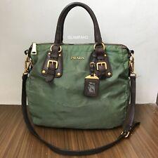 Pre Owned Authentic Prada Nylon Leather / Shoulder Bag / 2 Way Bag