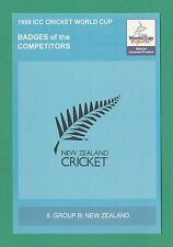 CRICKET -  1999  ICC  CRICKET  WORLD  CUP  POSTCARD  -  NO.  9  -  NEW  ZEALAND