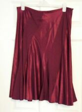 BNWT Kaliko Flippy Floaty Red Panelled Silk Wool Blend A Line Skirt UK Size 18
