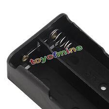 la scatola di plastica batteria utile titolare per 2 x 18650 3.7v con filo porta