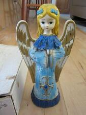 "JAPAN PAPIER MACHE 12"" BLUE ROBE PRAYING ANGEL CHRISTMAS IN ORIGINAL BOX"