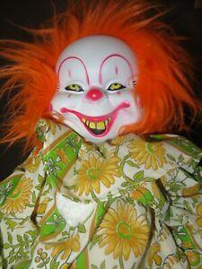 """Creepy Clown Doll With Giant Clown Feet Horror Halloween 24"""""""