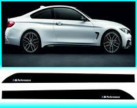 CCG 2pcs M Performance Side Skirt Sill Decal Stripe Sticker for BMW 4 Series F32