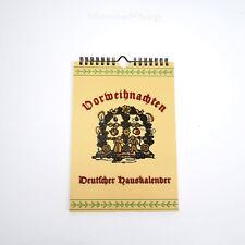 Vorweihnachten Deutscher Hauskalender fürdie Julzeit Weihnachtskalender Kalender