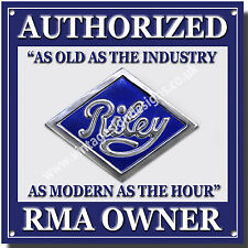 RILEY AUTHORIZED RMA OWNER METAL SIGN.CLASSIC BRITISH RILEY CAR.VINTAGE RILEY A3