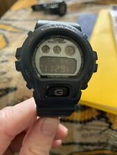 Casio G Shock DW6900MS-1 Watch Needs Watch Band Blue Pre Owned Military