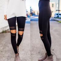 Women Yoga Fitness Pants Leggings Set Gym Workout Sports Wear Running Trousers