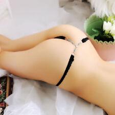 Tanga de mujer de color principal negro talla de ropa interior S