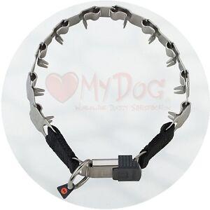 "Herm Sprenger Stainless Steel Neck Tech Sport Buckle Prong Collar 49cm/19"""
