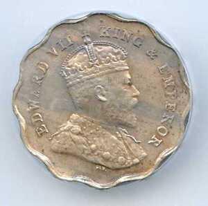 1907 India - British 1 Anna. ICG Graded MS 63. Lot #2243