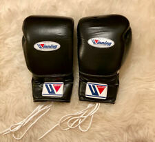 Winning Boxing Gloves Black Lace Up 16 Oz ounce Ms-600 Ms 600