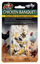 Zoo Med Chicken Banquet Mineral Block for Backyard Lyaing Hens   Free Shipping