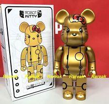 Medicom Be@rbrick 2017 Action City 400% Robot Hello Kitty Gold ver. Bearbrick