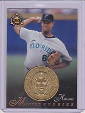 RARE 1998 PINNACLE MINT LIVAN HERNANDEZ BRASS PROOF COIN /500 & CARD #28