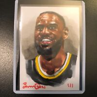 Lebron James Los Angeles Lakers 1/1 hand drawn original art sketch card aceo