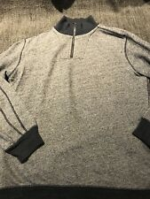 Gap Mens Navy 1/4 Zip Pullover Sweater, Size L