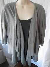 Calypso St. Barth Women's Grey Open Front Cardigan Sweater Top Size L