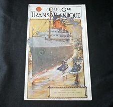 CGT FRENCH LINE General Route Destination Brochure Booklet 1923