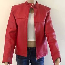 Fabulous 1980's Vintage Red Leather Jacket Size 12.The Leather Connection Sydney