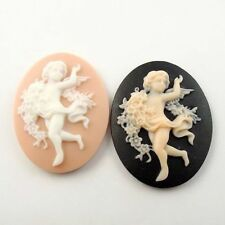9pcs Assorted Resin Angel Baby Oval Cameo Cabochons Crafts 39*30*9mm 09473