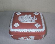 Wedgwood Jasperware Terracotta Square Box