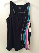 Old Navy Active Women's Top-Black with Rainbow Accent-Size Large-New with Tags