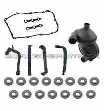 PCV CRANKCASE VENT VALVE BREATHER HOSE KIT + VALVE COVER GASKET for BMW E46 325i