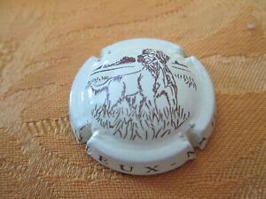 capsule de champagne TANNEUX MAHY chien fond crème